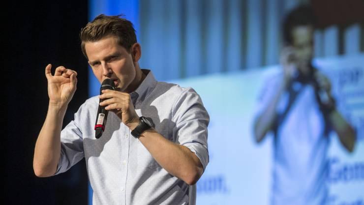 Comedian Fabian Unteregger am Tag der FDP 2015 in Sursee (Archiv)