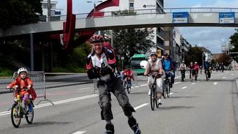 Eindrücke vom Slow Up 2013 im Dreiland