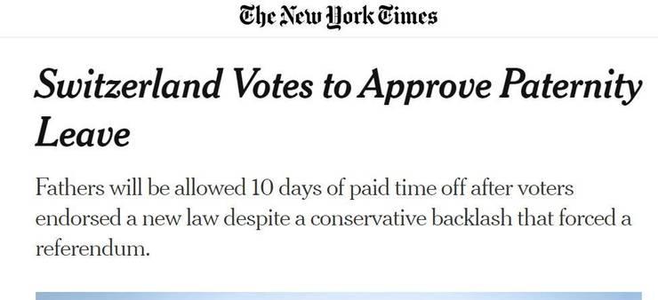 Schlagzeile in der «New York Times».