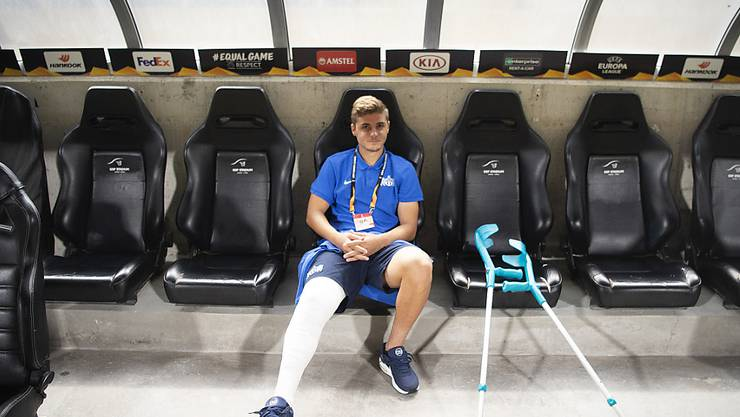 Izer Aliu verfolgte den Europacup-Auftritt des FCZ in Nikosia mit einbandagiertem Bein