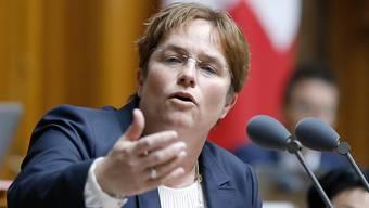 Die SVP-Nationalrätin und Unternehmerin aus Graubünden, Magdalena Martullo-Blocher, würde für ein Bundesratsamt kandidieren. (Archivbild)