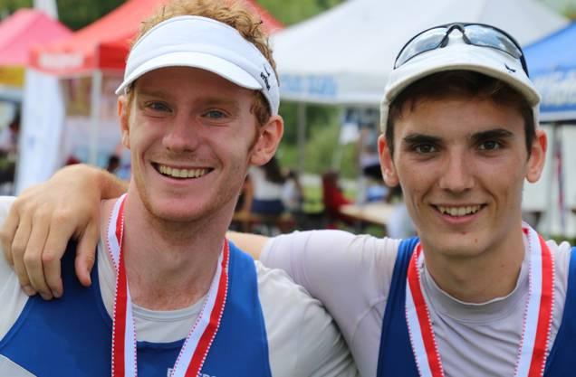 Ein neu gebildetes Duo: Streif und Reber überzeugten mit der Silbermedaille.