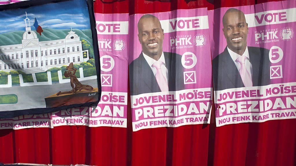 Hat es in die Stichwahl geschafft: Präsidentschaftskandidat Jovenel Moise in Haiti