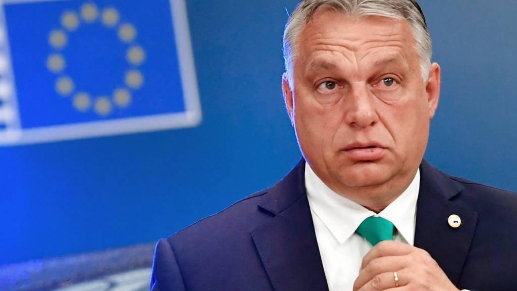 ARCHIV - Ungarns Ministerpräsident Viktor Orban und die ungarische Regierung sind mit einer Klage gegen ein Verfahren zur Rechtsstaatlichkeit vor dem Europäischen Gerichtshof gescheitert. Foto: John Thys/AFP Pool/AP/dpa