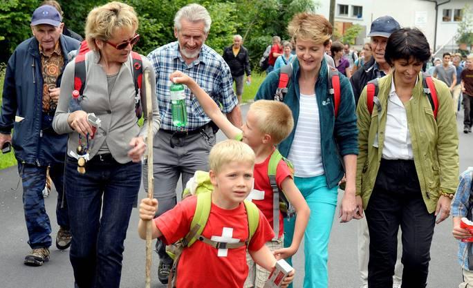 Die Jugend zeigt, wo's lang geht. Eveline Widmer-Schlumpf, Simonetta Sommaruga und Doris Leuthard folgen