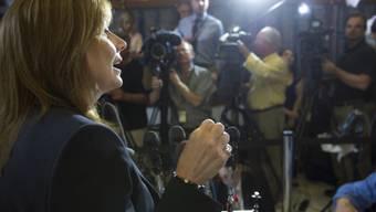 General Motors-Chefin Mary Barra vor der Presse