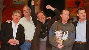 Monty Python 1998 ohne den 1989 verstorbenen Graham Chapman (Archiv)