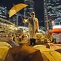 79 Tage mit Regenschirmen demonstriert: Nun sind neun Anführer der Bewegung in Hongkong schuldig gesprochen worden. (Archiv)