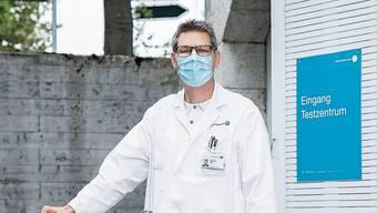 «Pro Woche führen wir über 1000 Tests durch», sagt KSA-Chefarzt Christoph Fux.