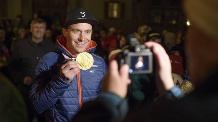 Olympia-Sieger Nevin Galmarini wird Vater von Zwillingen.