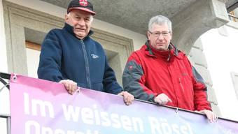 Präsident Hansrudolf Bürgi und Markus Bitterli. Er sorgt neu für die Verpflegung.