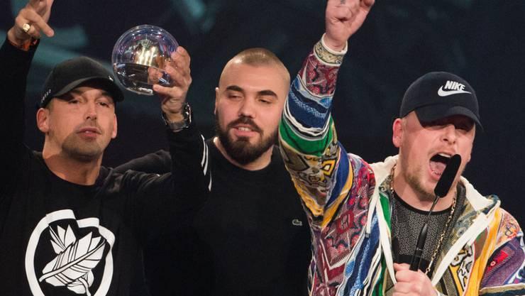 """Bonez MC und RAF Camora erhielten 2016 die 1Live Krone in der Kategorie """"Bester Hip-Hop-Act"""". (Archivbild)"""