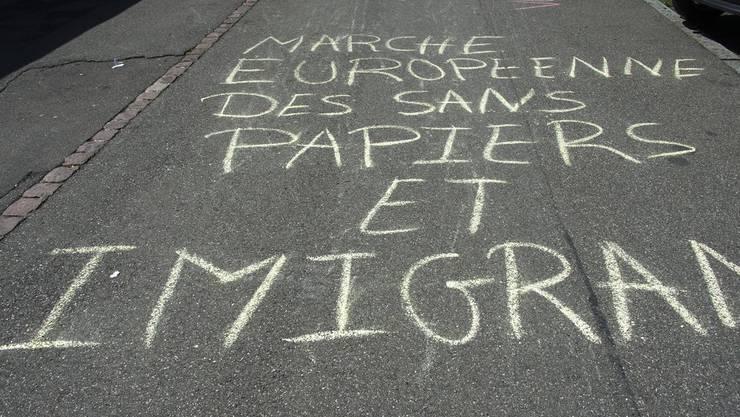 Der Marsch geht von der europäischen Hauptstadt Brüssel zum Europaparlament in Strassburg.