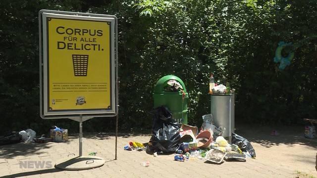 Abfallberge an der Aare