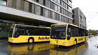 Ein Bus der «Autobus AG» am Bahnhof Liestal. (Archiv)