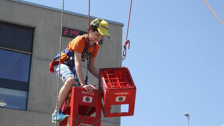 Die Kinder können auch Harassen klettern. (Archiv)