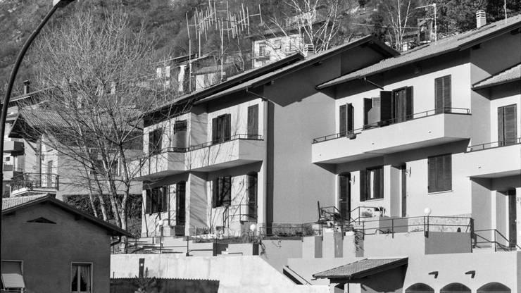 Das Radio 24 Sendestudio in Cernobbio von aussen, 1982