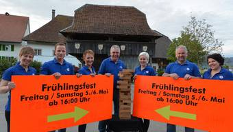 Das OK (v.l.) Sibylle von Arx, Konrad Ramseier, Kathrin von Arx, Daniel Büttiker (Präsident), Daniela Schaffner und Stefanie Langenstein.