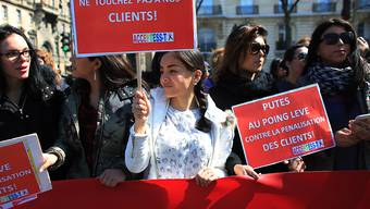 Protest gegen neues Prostituierten-Gesetz am Mittwoch in Paris.