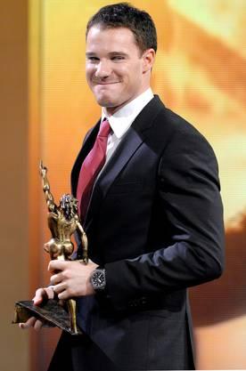 Dario Cologna mit seiner Auszeichnung