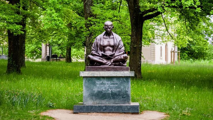 Mahatma Gandhis Statue in Genf. Er gilt als Indiens «Vater der Nation».