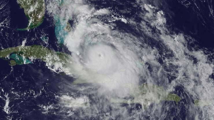 """Hurrikan """"Matthew"""" nimmt Kurs auf die Ostküste Floridas."""