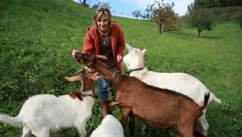 Maya Graf erholt sich mit ihren Tieren (Archivbild).