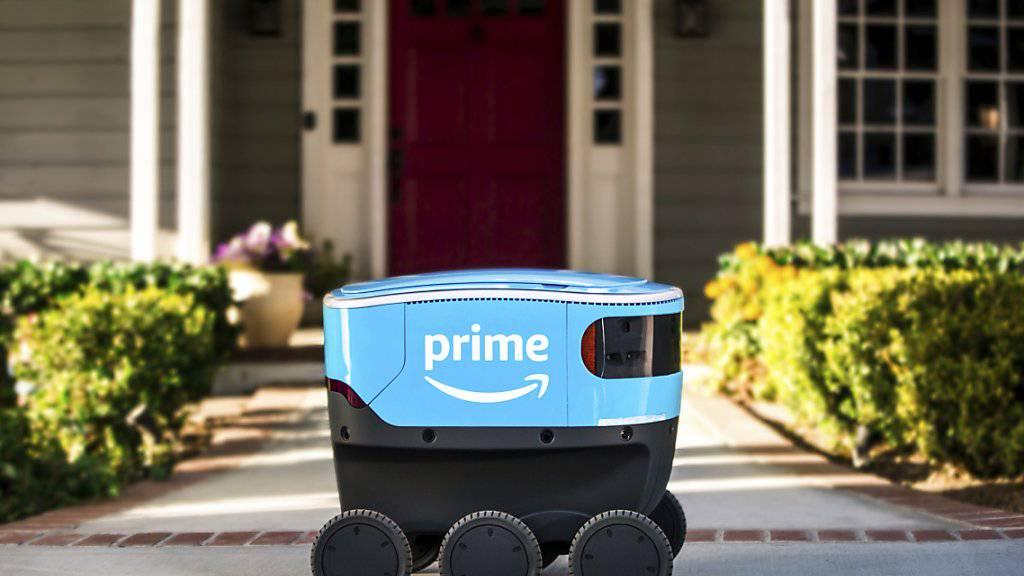 Sieht aus wie eine Kühlbox auf sechs Rädern: Der Lieferroboter von Amazon. (Archivbild)