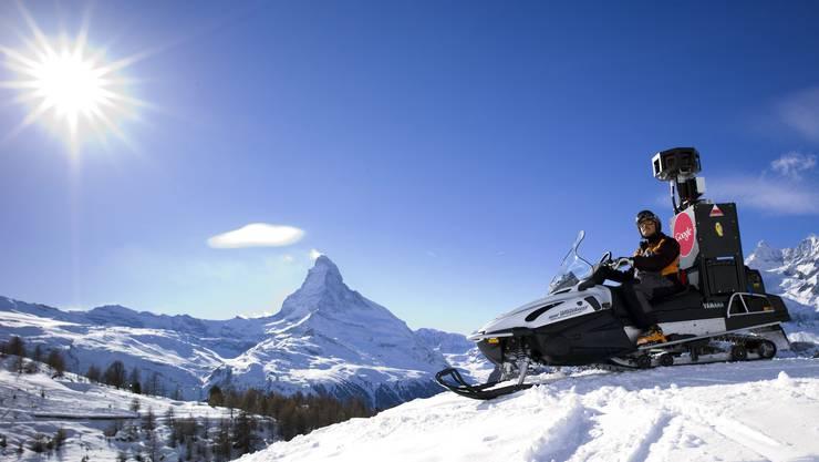 Google auf den Skipisten in Zermatt