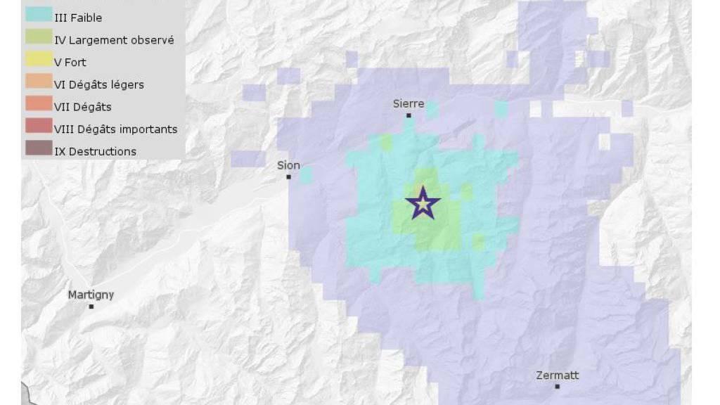Erdbeben der Stärke 3 im Val d'Anniviers