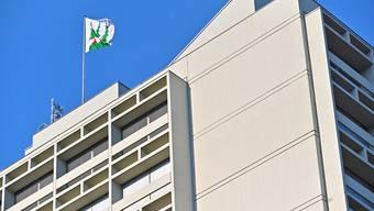 Stadthaus Stadtverwaltung Fahne Wappen Olten Behörden