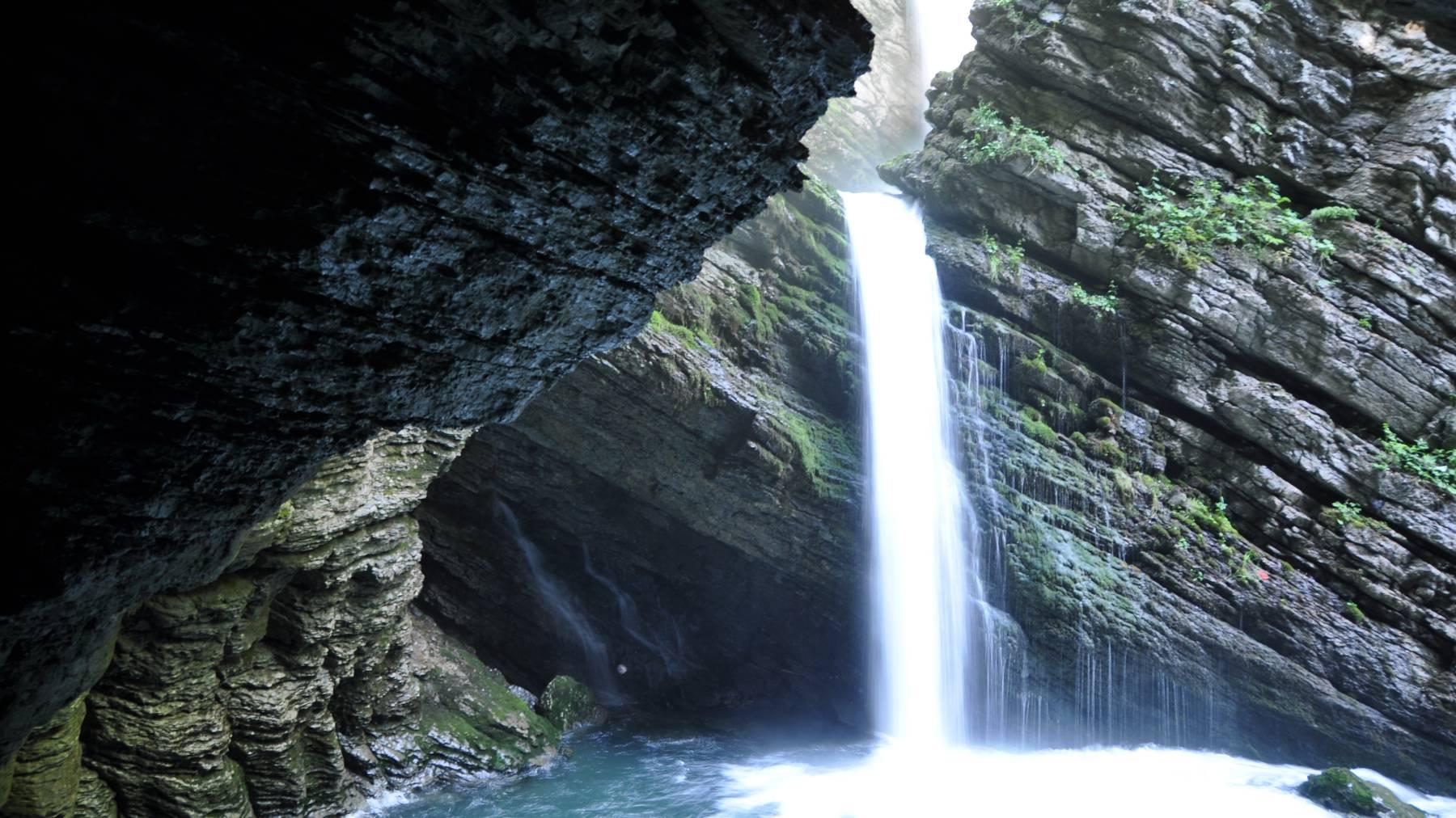Vielleicht nicht gerade die Niagarafälle, aber dafür höchst romantisch und wild: die Thurwasserfälle bei Unterwasser im Toggenburg.