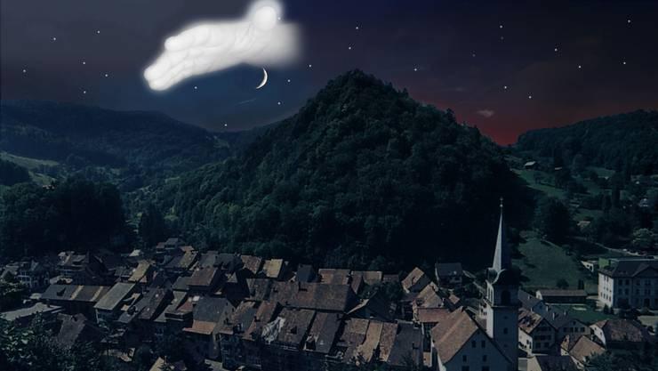 Noch immer leben Augenzeugen, die am Abend des 13. Mai 1940 am Himmel über Waldenburg eine schützende Hand sahen. (Bildmontage)