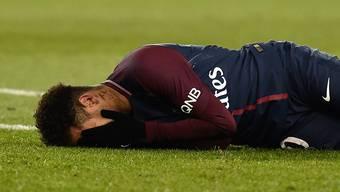 Neymar verletzte sich am Sonntag im Ligaspiel gegen Marseille