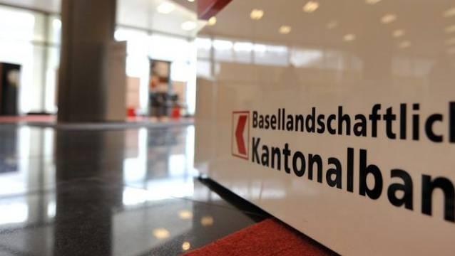 Schalterbereich der Basellandschaftlichen Kantonalbank in Liestal