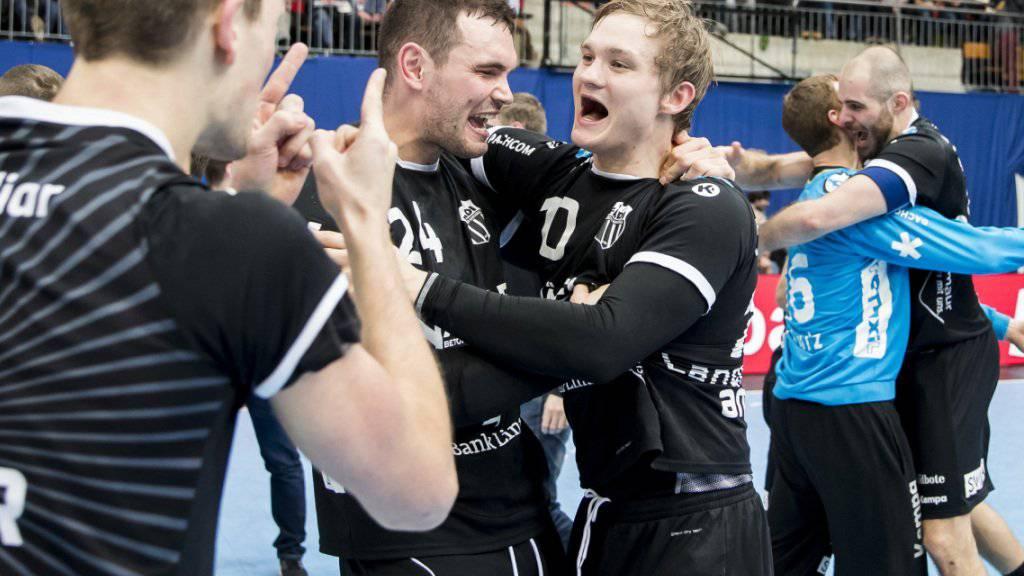 Pfadi Winterthur mit Michael Svailen und Topskorer Jonas Langerhuus übernimmt die Tabellenspitze