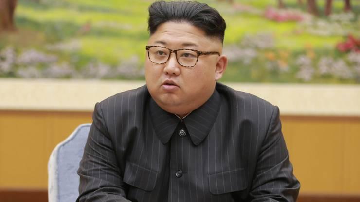 """Nordkoreas Machthaber Kim Jong Un hat US-Präsident Donald Trump nach dessen jüngsten Drohungen gegen sein Land gewarnt, er werde dafür """"teuer bezahlen"""". (Archivbild)"""