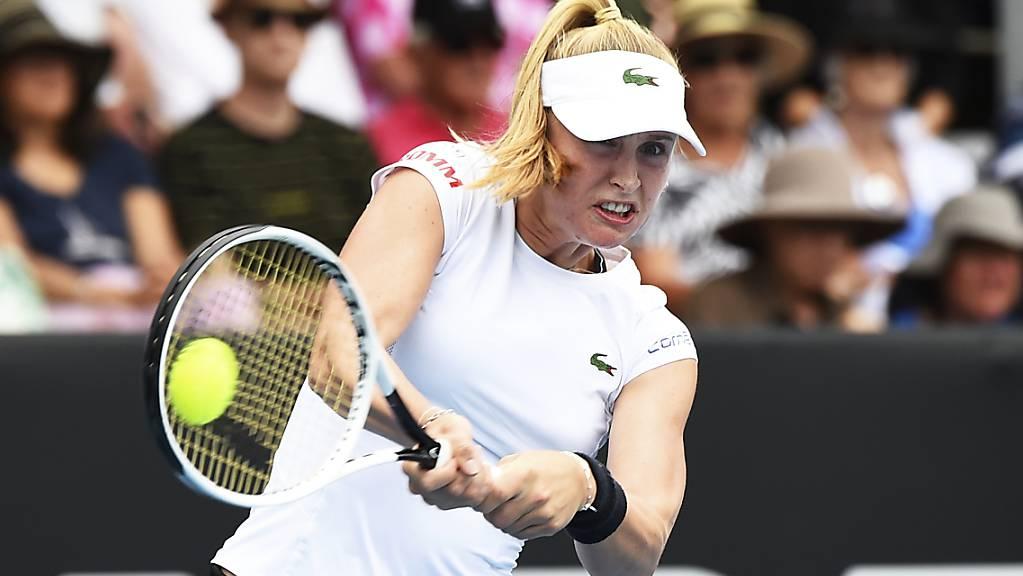 Jil Teichmann wehrte sich bei ihrem ersten Auftritt im Hauptfeld am Australian Open nach Kräften