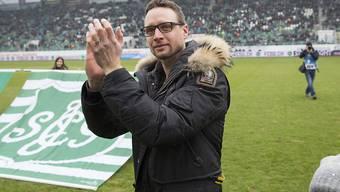 Der frühere Goalie Marcel Herzog (links) ist neuer Talent-Manager bei St. Gallen