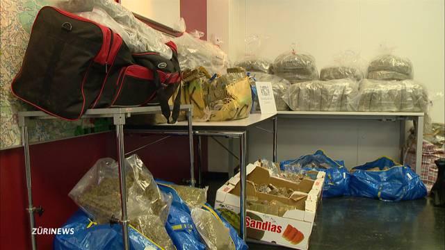 Stadtpolizei beschlagnahmt 330 Kilo Drogen in Zürcher Parkhaus