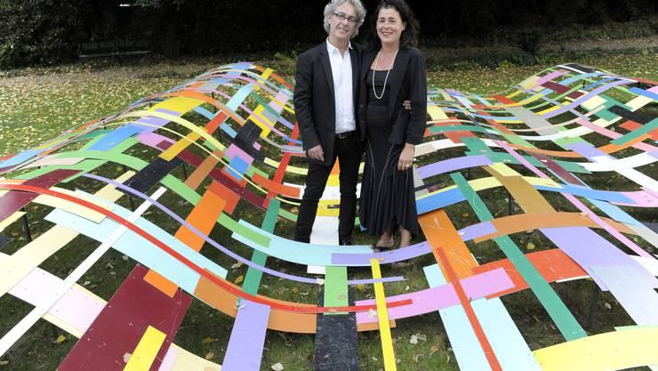 Beat Zoderer mit seiner Frau Andrea Herendi