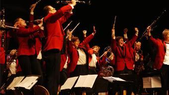 Die Stadtmusiker aus Bremgarten legten an ihrem Konzert viel Einsatz an den Tag, um das Publikum mitzureissen. Roger Wetli