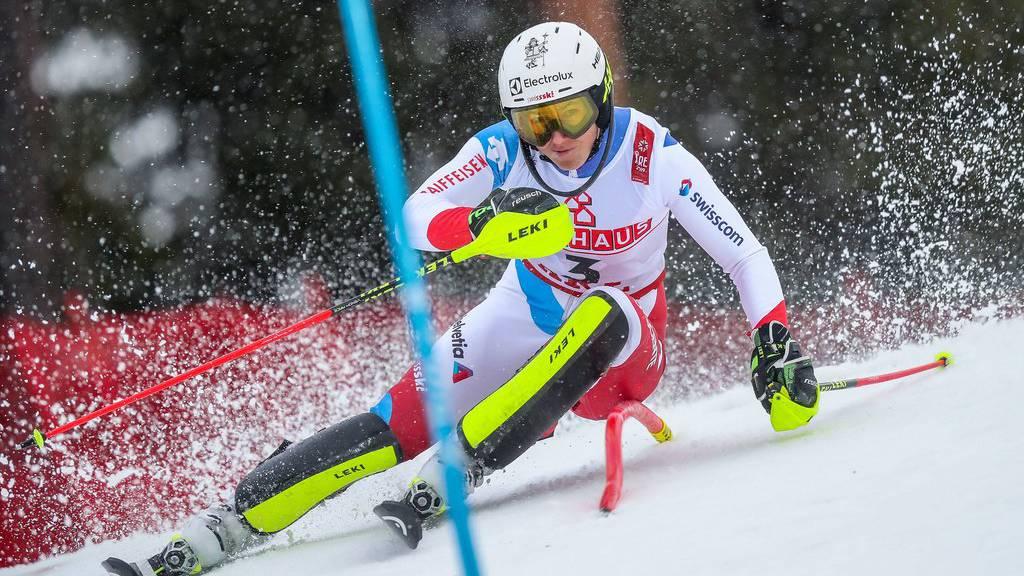 Wendy Holdener am Samstag, 16. Februar 2019, während dem 1. Lauf im Slalom der Damen im Rahmen der alpinen Ski-Weltmeisterschaft in Åre, Schweden.