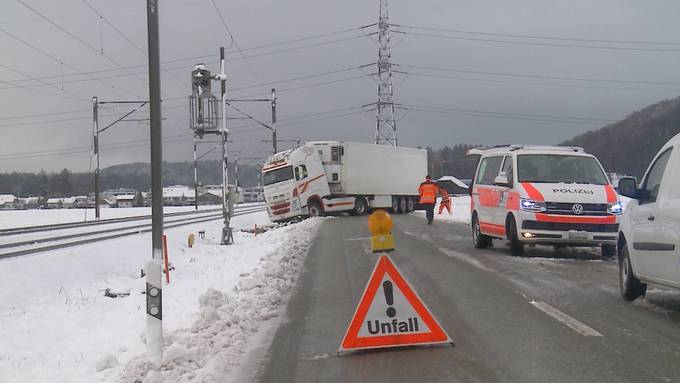 14 Verkehrunflälle im Kanton Solothurn nach dem ersten Scheefall