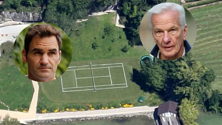 Auf diesem Platz am Ufer des Zürichsees trainierte Roger Federer. Der Besitzer: Milliardär Jorge Paulo Lemann.
