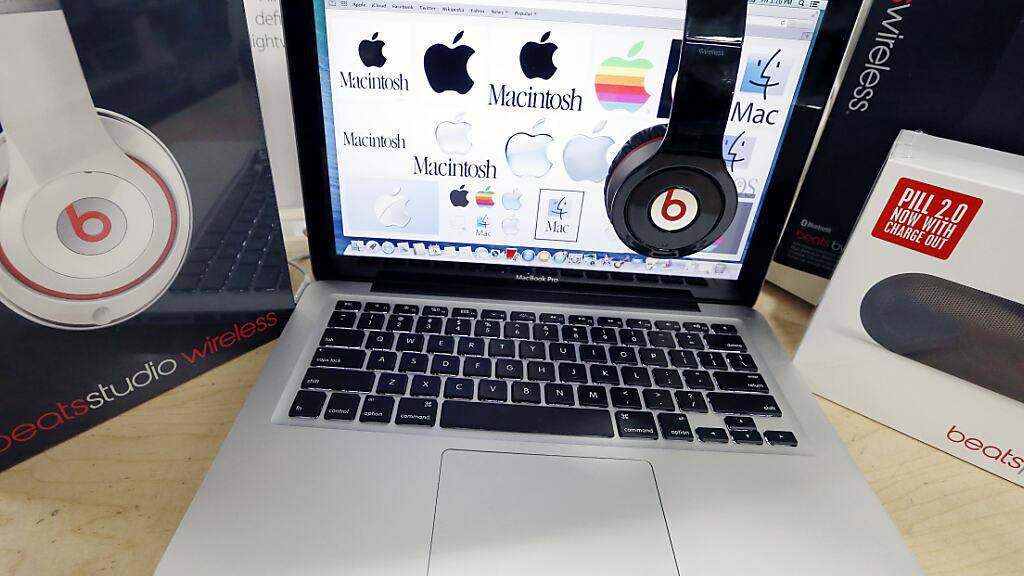 Apple droht in der EU zum Streamingdienst Apple Music eine Kartellstrafe. Konkurrent Spotify hat bei der EU-Kommission eine Beschwerde gegen Apple platziert. Der Vorwurf: Apple benachteilige andere Anbieter von Musikstreaming-Apps.(Archivbild)