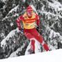 Alexander Bolschunow bestreitet bei der 5. Etappe der Tour de Ski ein einsames Rennen.