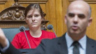 Jugendsession 2012: Alessandra Willi mit Bundesrat Alain Berset
