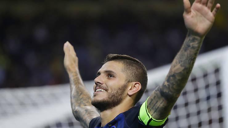 Mauro Icardi war gegen Juventus der gefeierte Mann der Inter-Fans
