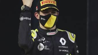 Platz 2 ging an den Franzosen Esteban Ocon im Renault, der zum ersten Mal den Sprung aufs Podest schaffte